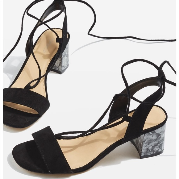 0a24b91ce68 NEW topshop marble block heel sandals
